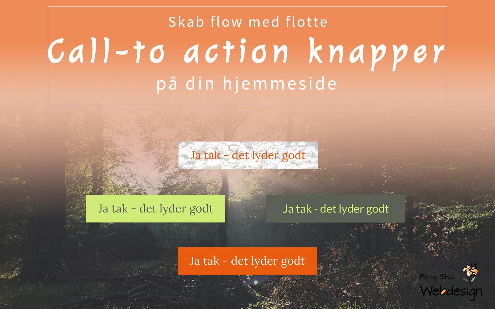 Call to action knapper på hjemmesiden